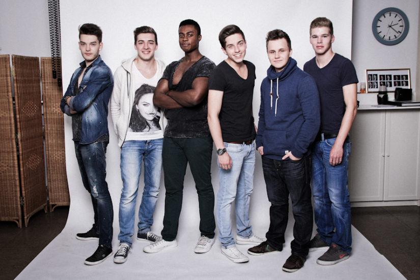 BFF Ideen Fotoshooting Männer 6 Freunde im Fotostudio Dortmund JGA Fotografin