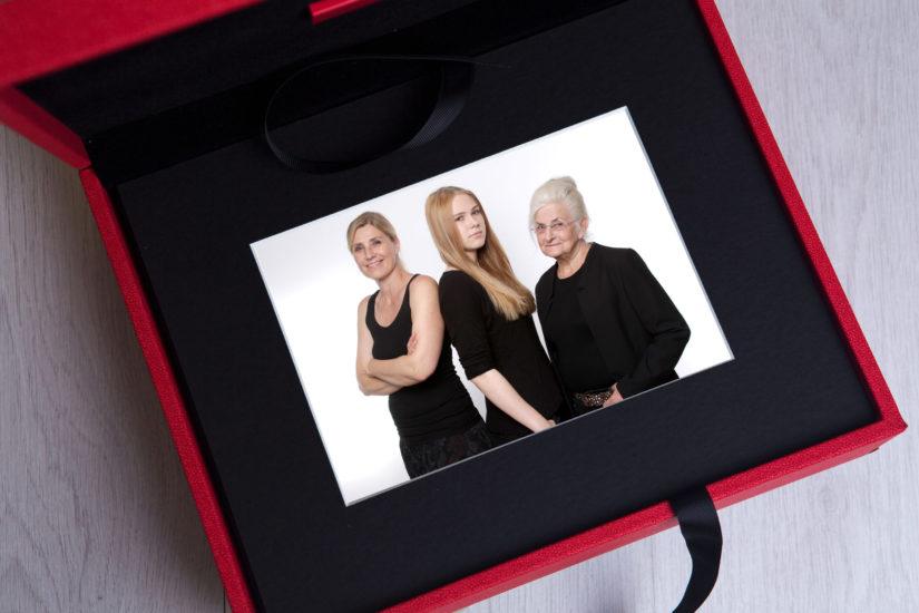 Fotoshooting Memorybox in rot JGA Fotoparty Dortmund